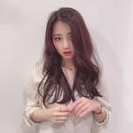 暗色カラー ナチュラル 韓国ヘア ロング