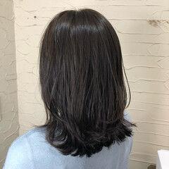 くびれボブ ナチュラル モテ髪 ミディアム ヘアスタイルや髪型の写真・画像