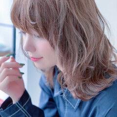 透明感カラー 大人かわいい 夏 透明感 ヘアスタイルや髪型の写真・画像