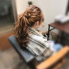 フェミニン ポニーテールアレンジ ポニーテール ロング ヘアスタイルや髪型の写真・画像