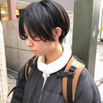 黒髪ショート ハンサムショート ショート 簡単スタイリング