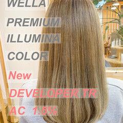 ナチュラル イルミナカラー ロング 透明感カラー ヘアスタイルや髪型の写真・画像