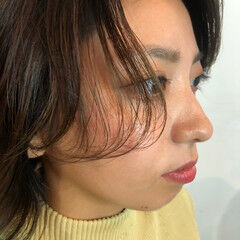 グレージュ オリーブベージュ ナチュラル ウルフカット ヘアスタイルや髪型の写真・画像