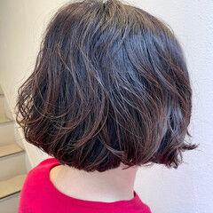 無造作パーマ ボブ  ボブ ヘアスタイルや髪型の写真・画像
