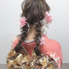 ガーリー 成人式ヘア 成人式カラー 成人式ヘアメイク着付け ヘアスタイルや髪型の写真・画像