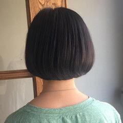 大人女子 ナチュラル ショート 黒髪 ヘアスタイルや髪型の写真・画像