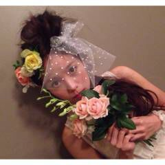 ヘアアレンジ フェミニン コンサバ 花 ヘアスタイルや髪型の写真・画像