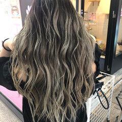透明感カラー グラデーションカラー ミディアム バックコーミング ヘアスタイルや髪型の写真・画像
