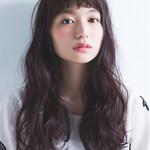 ロング 暗髪 冬 黒髪