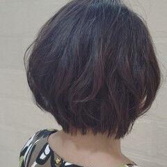 ナチュラル 似合わせ 大人女子 ショート ヘアスタイルや髪型の写真・画像