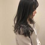 ワンカール 暗髪 ロング モテ髪