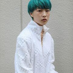 ターコイズ ストリート マッシュ ショート ヘアスタイルや髪型の写真・画像