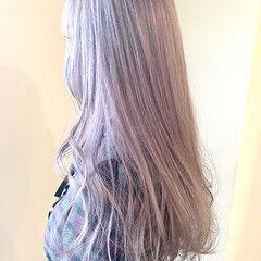 アッシュベージュ ウルフレイヤー ミルクティーベージュ ラベンダーカラー ヘアスタイルや髪型の写真・画像