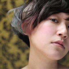 モード ハイライト ショート ガーリー ヘアスタイルや髪型の写真・画像