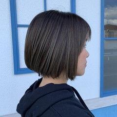 ヘアカラー カット 圧倒的透明感 ボブ ヘアスタイルや髪型の写真・画像