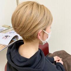 ベリーショート ストリート ショート ミルクティー ヘアスタイルや髪型の写真・画像