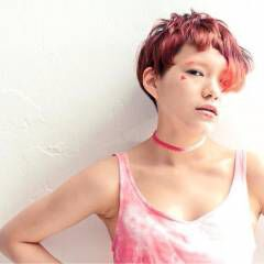ハイトーン ショート モード ヘアスタイルや髪型の写真・画像