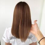 ストレート セミロング 髪質改善トリートメント エレガント