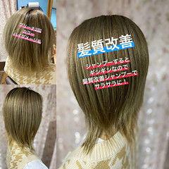 ネオウルフ 髪質改善トリートメント ボブ ガーリー ヘアスタイルや髪型の写真・画像