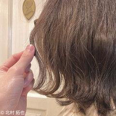 エアリー ボブ 透明感カラー ナチュラル ヘアスタイルや髪型の写真・画像