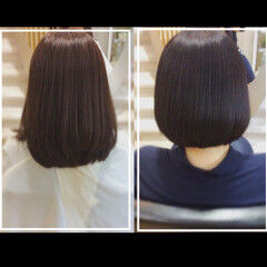 ナチュラル まとまるボブ 髪質改善カラー 社会人の味方 ヘアスタイルや髪型の写真・画像