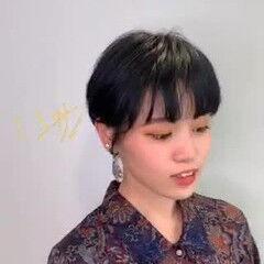 モード ショートボブ スポーティヘア ショートヘア ヘアスタイルや髪型の写真・画像