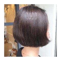 ナチュラル ボブ ツヤ髪 大人女子 ヘアスタイルや髪型の写真・画像