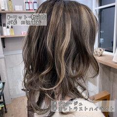 ミディアム 外国人風カラー アディクシーカラー デート ヘアスタイルや髪型の写真・画像