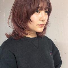 モード ウルフパーマ ウルフパーマヘア ミディアム ヘアスタイルや髪型の写真・画像
