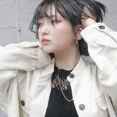 ヘアカラー ウルフ女子 ウルフ 透明感カラー ヘアスタイルや髪型の写真・画像
