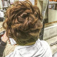 花 セミロング 外国人風 ヘアアレンジ ヘアスタイルや髪型の写真・画像