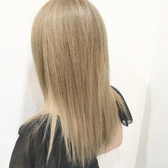 金髪 上品 エレガント ブリーチ ヘアスタイルや髪型の写真・画像