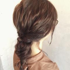 花火大会 簡単ヘアアレンジ 結婚式 セミロング ヘアスタイルや髪型の写真・画像
