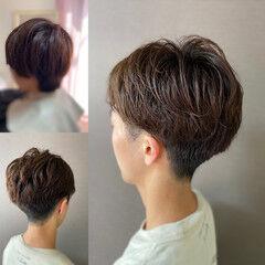 ショート ツーブロック メンズショート メンズカット ヘアスタイルや髪型の写真・画像