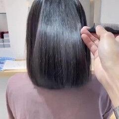 縮毛矯正ストカール ナチュラル 髪質改善 縮毛矯正 ヘアスタイルや髪型の写真・画像