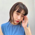 韓国風ヘアー ヘアカラー ボブ カジュアル