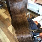 美髪 髪質改善カラー ロング ナチュラル