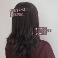大人かわいい ゆるナチュラル セミロング ナチュラル ヘアスタイルや髪型の写真・画像
