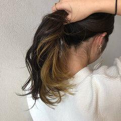 イエローベージュ ストリート イエローアッシュ シアーベージュ ヘアスタイルや髪型の写真・画像