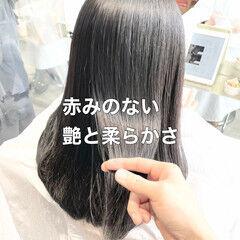 縮毛矯正 ストレート ナチュラル ブリーチなし ヘアスタイルや髪型の写真・画像