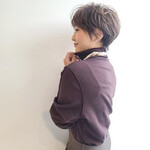 丸みショート ショートヘア ナチュラル ニュアンスパーマ