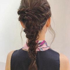 デート ヘアアレンジ アンニュイほつれヘア パーティヘア ヘアスタイルや髪型の写真・画像