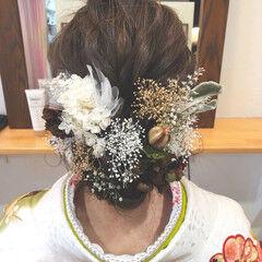 ガーリー 成人式ヘア セミロング 成人式 ヘアスタイルや髪型の写真・画像
