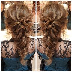 結婚式 デート ナチュラル 成人式ヘア ヘアスタイルや髪型の写真・画像