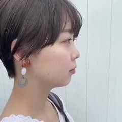 小顔ショート ナチュラル ショートカット ショートヘア ヘアスタイルや髪型の写真・画像