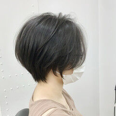 小顔ショート ショート ショートボブ 丸みショート ヘアスタイルや髪型の写真・画像