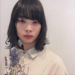 パーマ 黒髪 アンニュイ デート ヘアスタイルや髪型の写真・画像