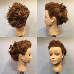 ねじり フェミニン お祭り ヘアアレンジ ヘアスタイルや髪型の写真・画像