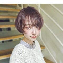 ショートヘア レイヤーボブ ショート ナチュラル ヘアスタイルや髪型の写真・画像