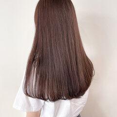 ブラウン ナチュラル ラベンダーグレージュ 秋ブラウン ヘアスタイルや髪型の写真・画像